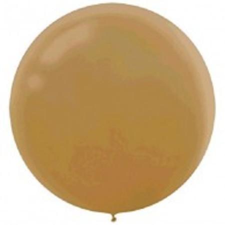 Metallic Gold Round 24 inch (60 cm) Latex Balloons AM115910.19