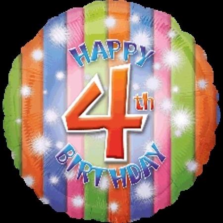 Happy 4th Birthday Foil Balloon ANA25899