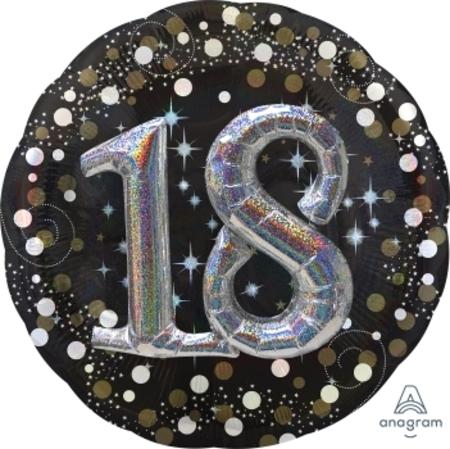 Sparkling Birthday 18 Multi Balloon ANA34511