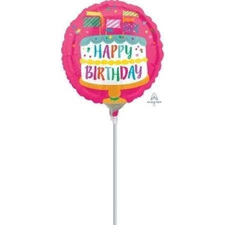 Happy Birthday Fancy Flag 4 inch (10cm) Foil Balloon ANA33350-F