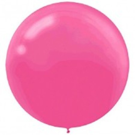Bright Pink Round 24 inch (60 cm) Latex Balloons AM115910.103
