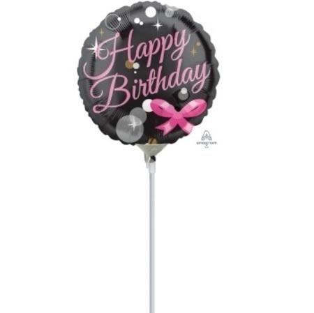Happy Birthday Bubbles 4 inch (10 cm) Foil Balloon ANA33357-F