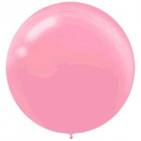 New Pink Round 24 inch (60 cm) Latex Balloons AM115910.109