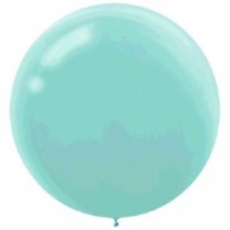 Robin's Egg Blue Round 24 inch (60 cm) Latex Balloons AM115910.121