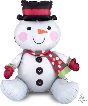 Sitting Snowman Multishape Foil Balloon ANA36019
