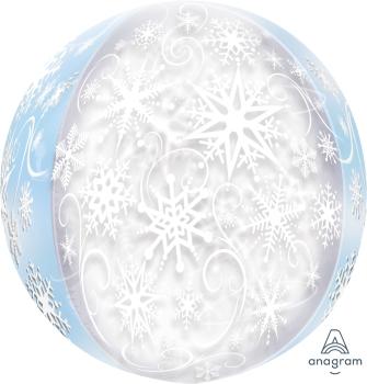 Snowflakes Orbz Balloon ANA29401