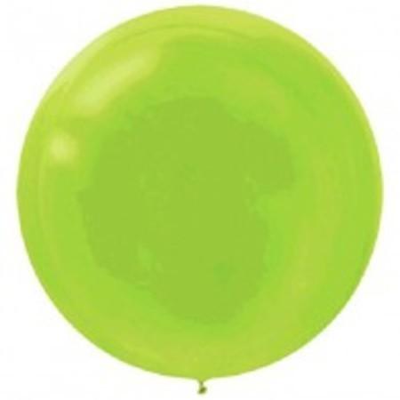 Kiwi Lime Green Round 24 inch (60 cm) Latex Balloons AM115910.53