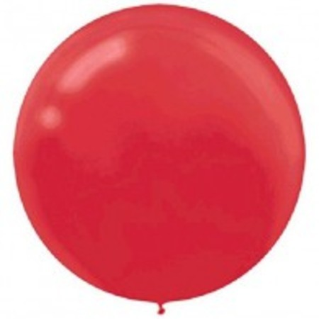 Apple Red Round 24 inch (60 cm) Latex Balloons AM115910.40