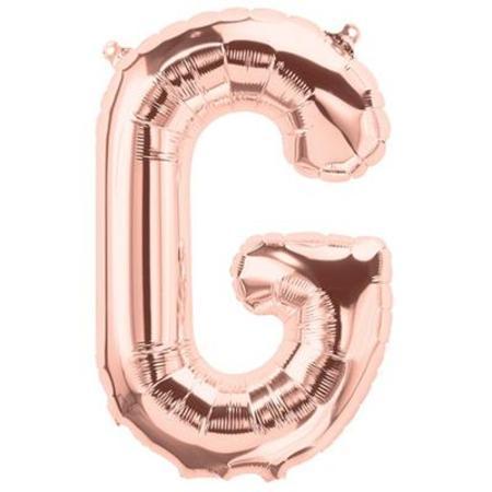 Rose Gold Letter G 16 inch (40 cm) Foil Balloon LET16G-RG