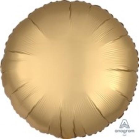Round Gold Sateen Satin Luxe Foil Balloon ANA36801