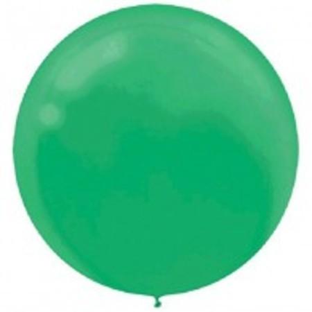 Festive Green Round 24 inch (60 cm) Latex Balloons AM115910.03