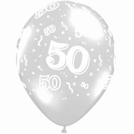 50 Around Diamond Clear Latex Balloons Q40391