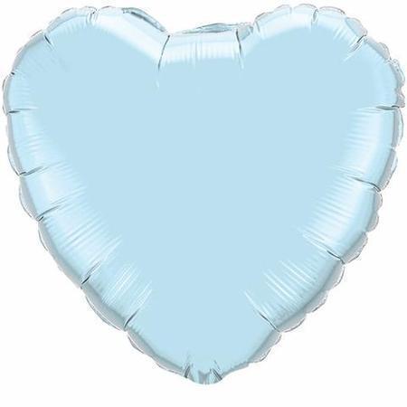 Pearl Light Blue 36 inch (91 cm) Heart Foil Balloon Q74625