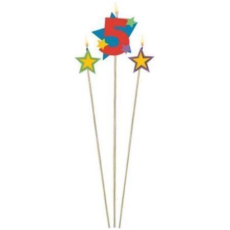 Candle Numeral 5 with Stars AM175207
