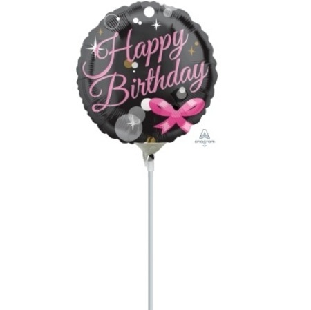 Happy Birthday Bubbles 4 inch (10 cm) Foil Balloon ANA33357-I