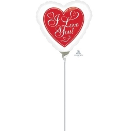 Red Hot Love 4 inch (10 cm) Foil Balloon ANA34366-I