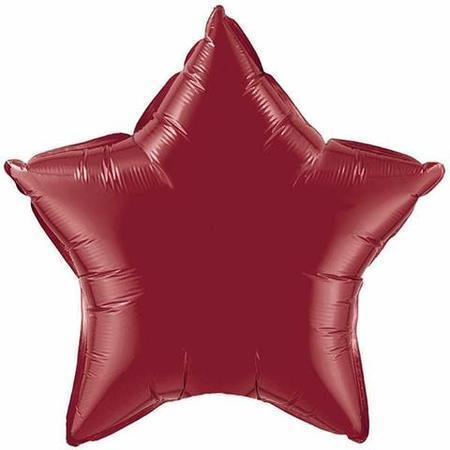 Burgundy Star Foil Balloon Q41533