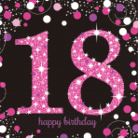 Pink Celebration 18 Luncheon Napkins AM9900579