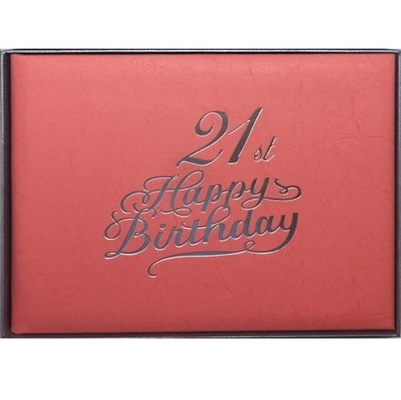 Guestbook 21st Birthday Pink Female BKG21F