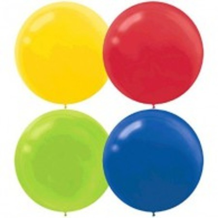 Primary Assortment 24 inch (60 cm) Latex Balloons AM115910.99