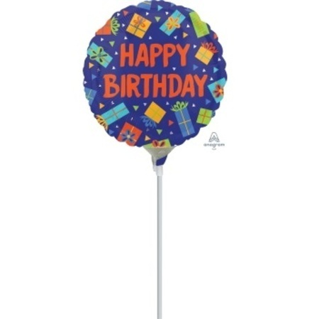 Colourful Birthday Presents 4 inch (10cm) Foil Balloon ANA35582-I