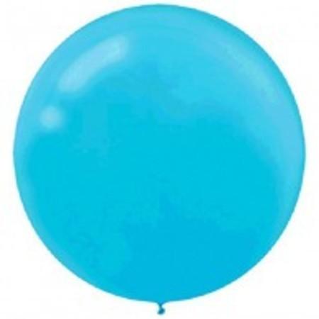 Caribbean Blue Round 24 inch (60 cm) Latex Balloons AM115910.54