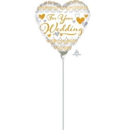 For Your Wedding Heart 9 inch (22 cm) Foil Balloon ANA35217-F
