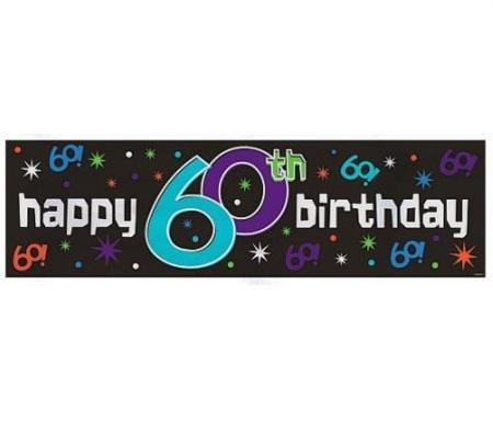 happy 60th birthday giant sign banner am128608 important items