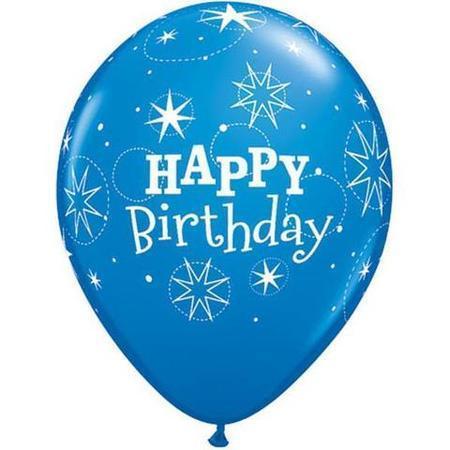 Birthday Sparkle Dark Blue & Robins Egg Latex Balloons Q41407