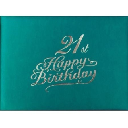 Guestbook 21st Birthday Teal Female BKG21F
