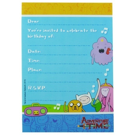 Adventure Time Invitations Am010928 Important Items