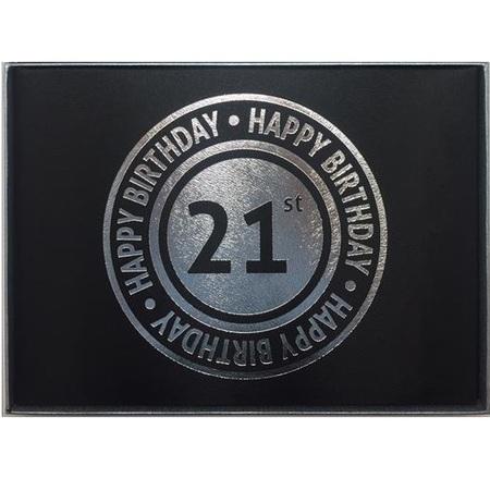 Guestbook 21st Birthday Black Male BKG21M