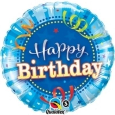 """Qualatex Super Shape 34/"""" Blue 5 Foil Helium Number Balloon Birthday Party BN"""