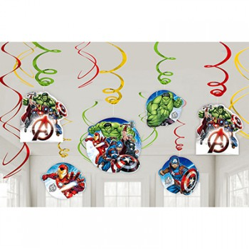 Avengers Epic Hanging Swirls Decorations Value Pack AM671733