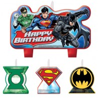 Justice League Birthday Candle Set AM171585