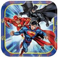 Justice League 7 inch (18 cm) Square Plates AM541585