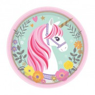 Magical Unicorn Small Round Plates AM541929