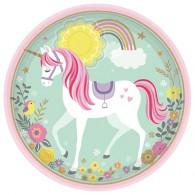 Magical Unicorn Large Round Plates AM551929