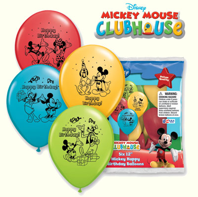 Mickey Mouse Clubhouse Happy Birthday 12 inch (30 cm) Balloons Q01040