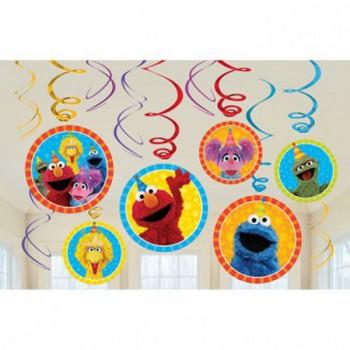 Sesame Street Hanging Swirls Decorations Value Pack AM671672