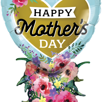 27 inch Mother/'s Satin Infused Flowers 27  inch Happy Mother/'s day Watercolor Flowers